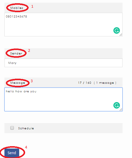How to send Bulk SMS - Hexal SMS step 3